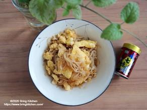 材料2つの便利常備菜★【レシピ】しらたきの卵炒め お献立付き★