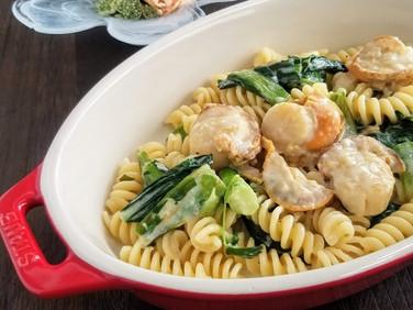 ランチにピッタリ♡【レシピ】ベビーホタテと小松菜のフリッジ