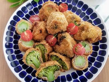 福島クッキングアンバサダー♪【レシピ】ブロッコリーの肉巻きフライ