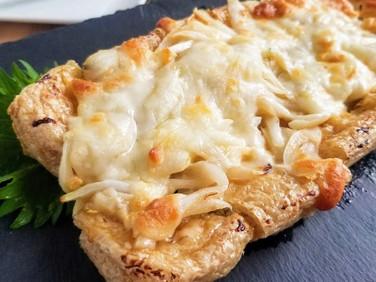 【レシピ】トースター仕上げ♪栃尾揚げの新玉味噌チーズ