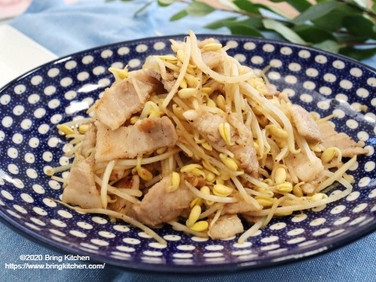 ガッツリヘルシー♡【レシピ】豚バラと豆もやしのガーリック炒め 大掃除と断捨離の話付き