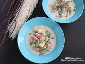 失敗ナシのホワイトソース♪【レシピ】いんげんのクリーム煮