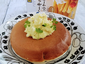 【モニター】大きなサツマイモクリームのホットケーキ