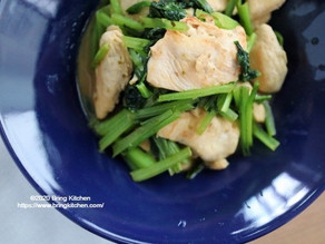 息子の好き嫌い問題と向き合う★【レシピ】小松菜と鶏むね肉のオレガノマヨ炒め