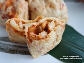 おうち居酒屋★【レシピ】お揚げの包み焼(納豆×キムチ×チーズ)