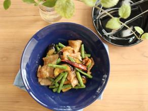 白いご飯のおかず♡【レシピ】豚バラ茄子といんげんの味噌炒め