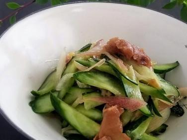 福島クッキングアンバサダー♪【レシピ】きゅうりと茗荷の梅和え
