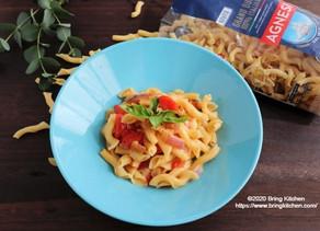 モッツァレラチーズを溶かして本格ソース!【レシピ】トマトとモッツァレラチーズのリーチェ