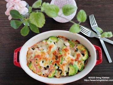 トースター調理♪【レシピ】とろ~り♡かぼちゃとアボカドのチーズ焼き