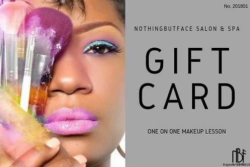 One on One- Gift Certificate