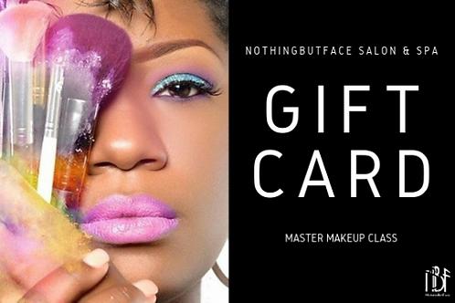 Master Makeup Class- Gift Certificate