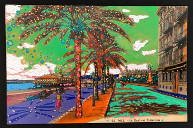 Nice - Le Quai des Etats-Unie Postcards from  Wonderland     original antique postcards - handpainted  Nice - Le Quai des Etats-Unie