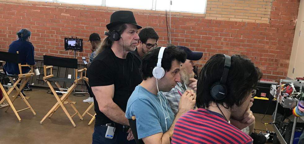 OH JEROME, NO - Producer Ed Polgardy watches a take with Writer-Directors Alex Karpovsky and Teddy Blanks.