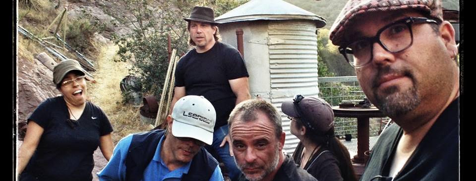 S2K Producer-Director Ed Polgardy surveys the scene as DP Eric Gustavo Petersen takes a selfie of his crew preparing a shot.