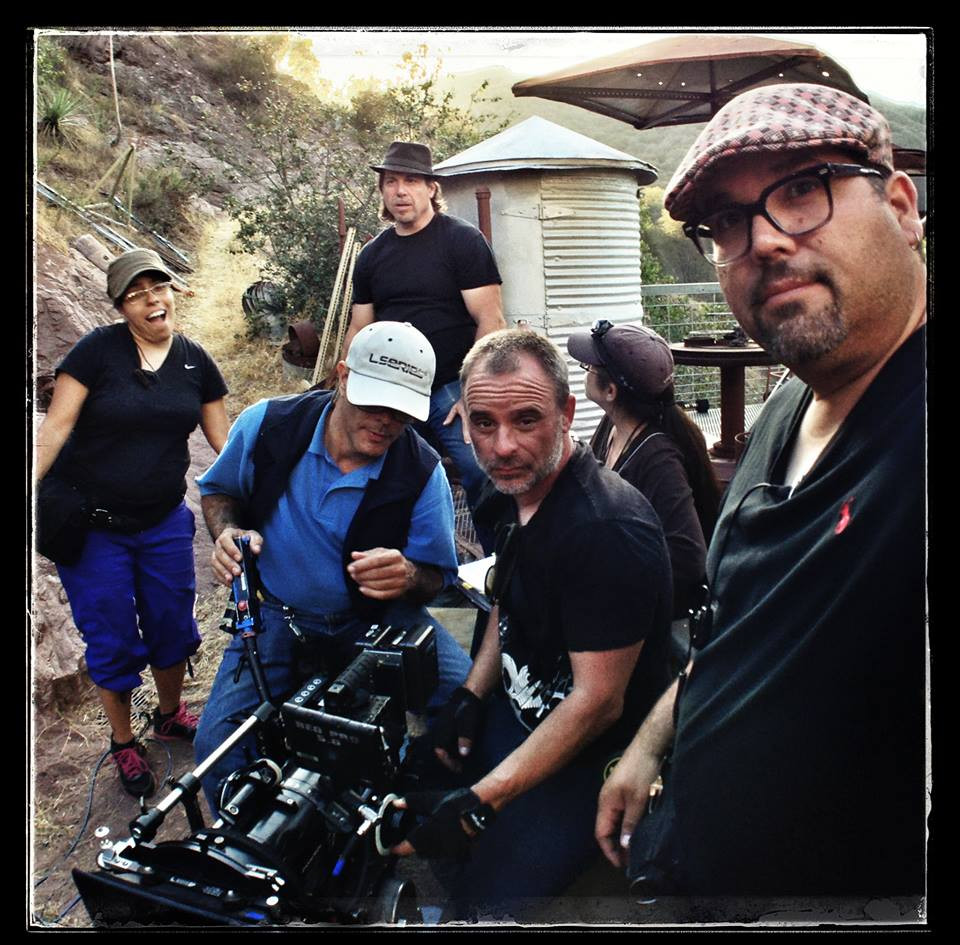 S2K Producer-Director Ed Polgardy surveys the scene as DP Eric Gustavo Petersen takes a selfie of his crew preparing a shot.