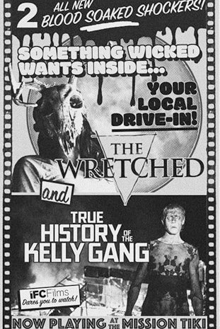 THE WRETCHED Drive-In ad.