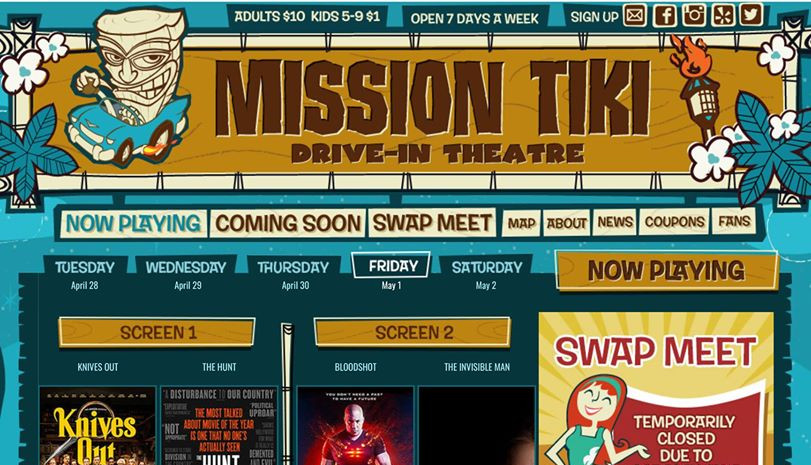 Mission Tiki Drive-In ad.