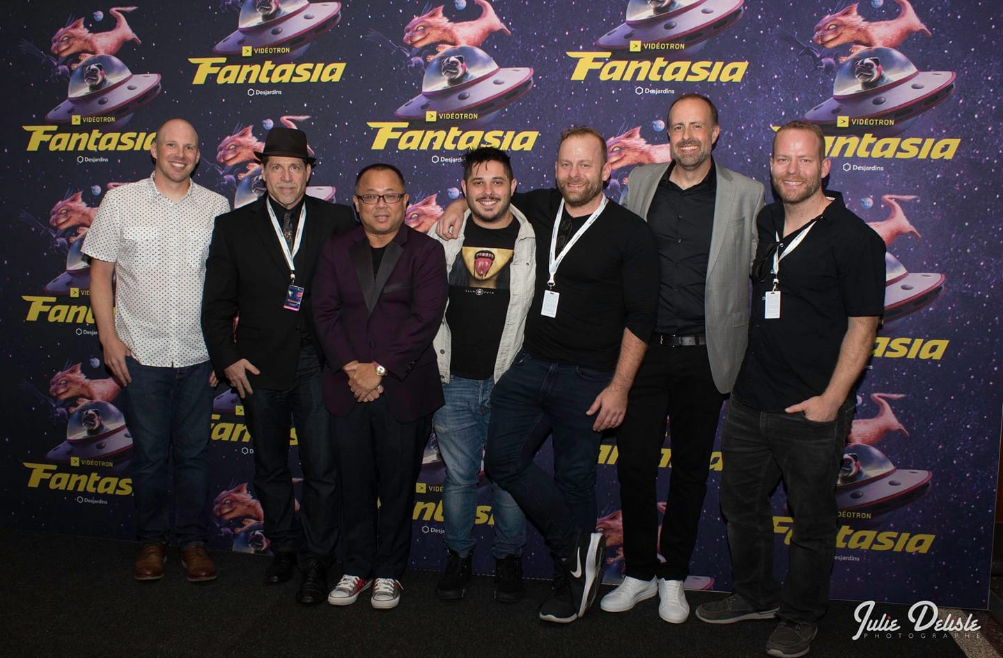 World Premiere of THE WRETCHED at the Fantasia Film Festival, with Terry Yates, Ed Polgardy, Chang Tseng, Travis Cultreri, Brett Pierce, Devin Burrows, and Drew Pierce.