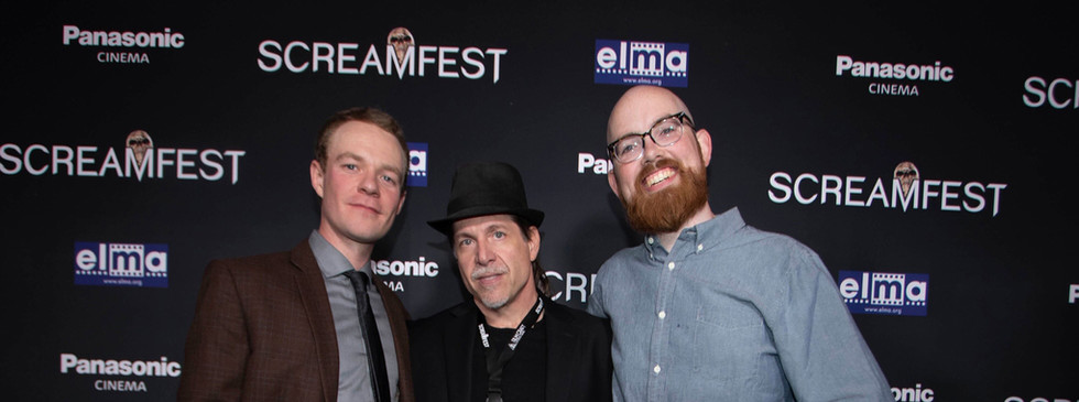 THE WRETCHED at Screamfest - Director of Photography Conor Murphy, Producer Ed Polgardy and Gaffer Ted Maroney take their turn on the red carpet