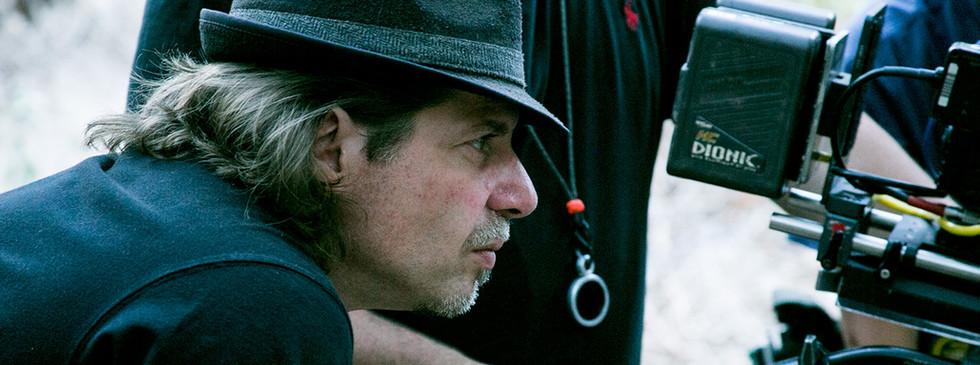 S2K Producer-Director Ed Polgardy checks the camera's POV.