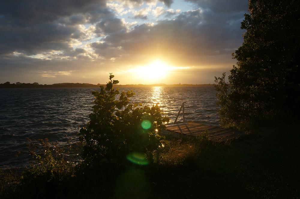 schöne Abendstimmung am Plauersee