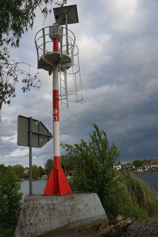 Mini-Leuchtturm auf dem Campingplatz Himmelreich