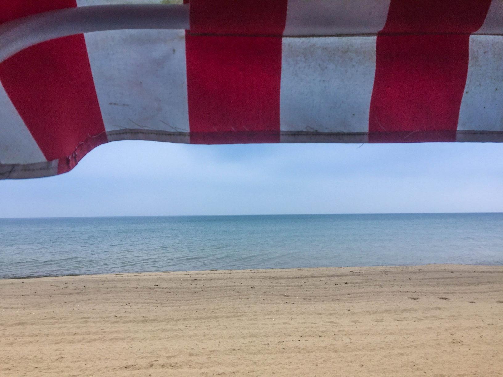 am Strand von Thiessow