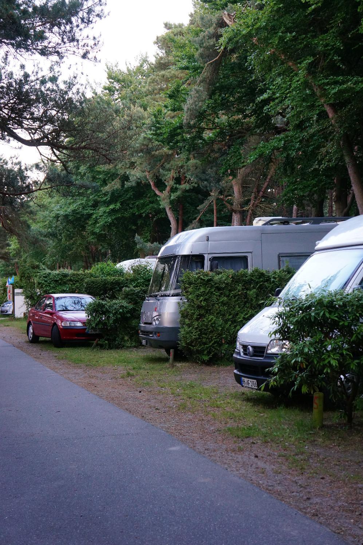 Standplatz Camping Dünengelände Zempin
