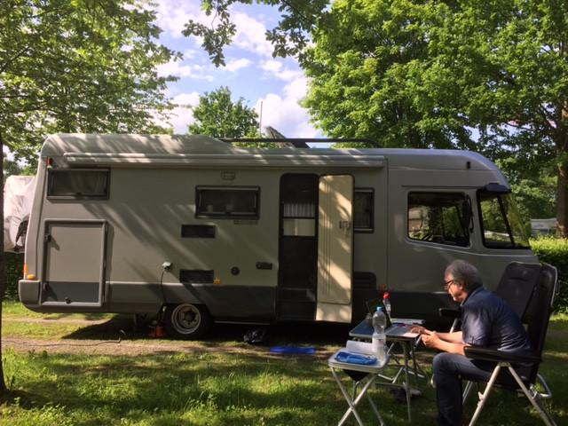 unser Platz im Knaus Camp Hamburg