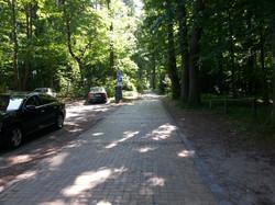 Weg zum Camping
