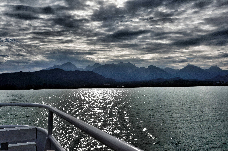mit dem Schiff auf dem Forggensee