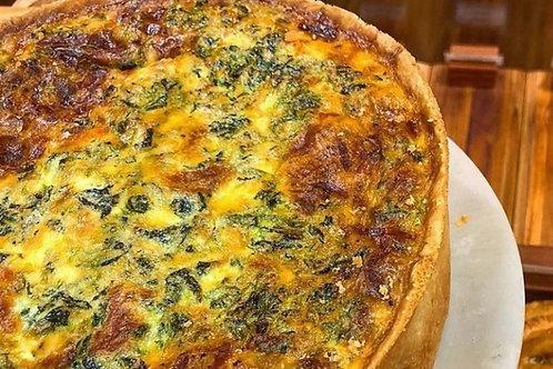 Spinach and Feta Quiche (Slice)