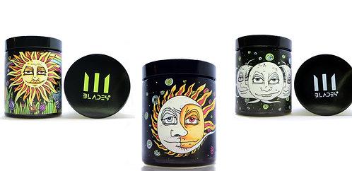Psychedelic Set Stash Jar Smell Proof UV-HD Herbs Jar 14 gr ~ ½ oz