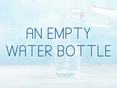 An Empty Water Bottle