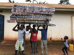 Boys with their Mattresses
