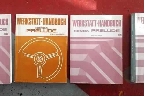 Werkstatt Handbücher - Honda Prelude