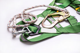 Closeup fall protection Hook harness and