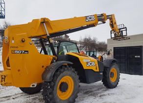 Another great, and COLD, day of Telehandler training with Rob!