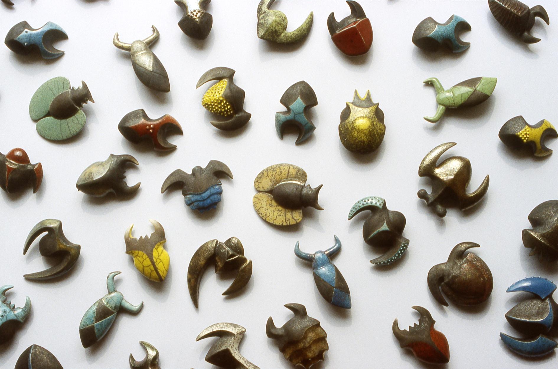 Anna Lüdi Keramik Coléoptères