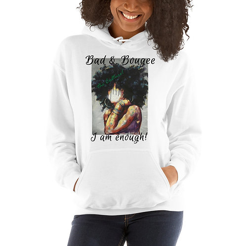 """Bad & Bougee 4Real 'the Culture"""" AFRO Unisex Hoodie for Women"""