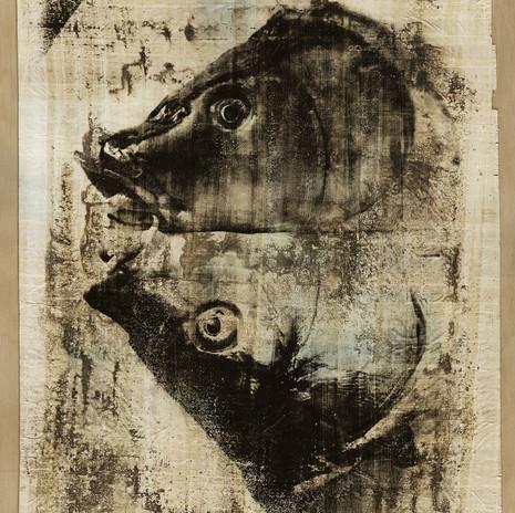 2003 - Burleszk - ezüst zselatin réteg papiruszon 50x60 cm