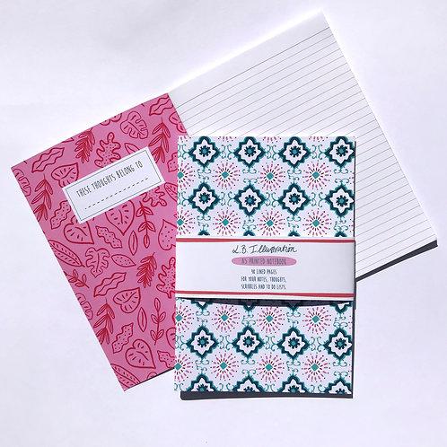 Tiles pattern A5 notebook