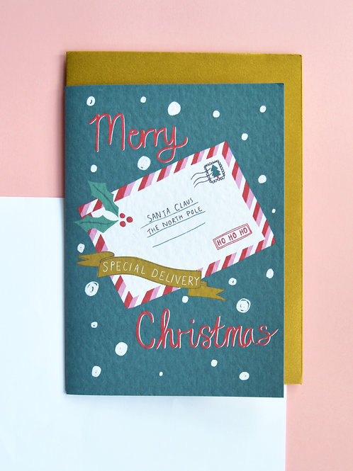 Letter to Santa - A6 Christmas card