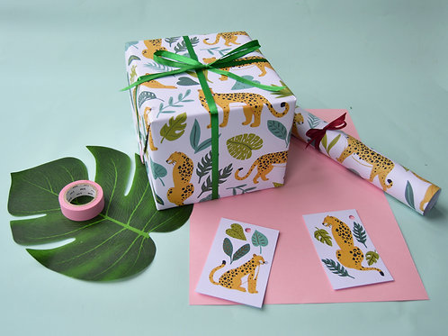 Jungle Leopard Wrapping Paper