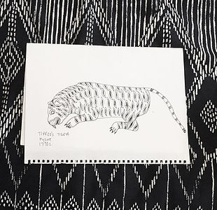 tipu's tiger. Loved his stripes! 🐅 he