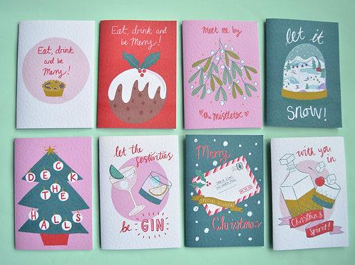 Christmas Card Bundle - 8 cards