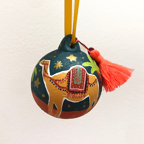 Marrakech Hand Painted Ceramic Bauble