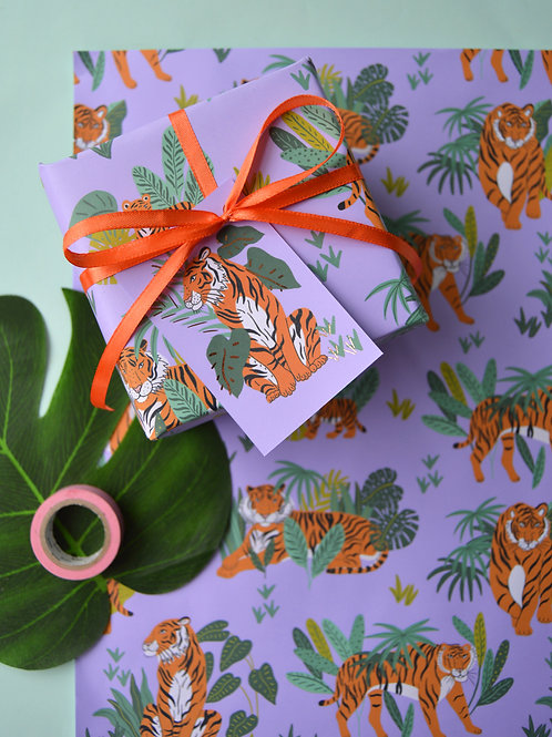 Jungle Tigers Wrapping Paper