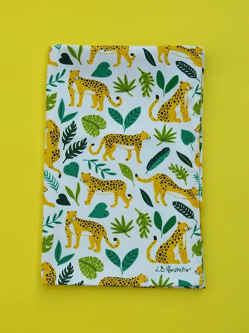 Leopards Printed Tea Towel