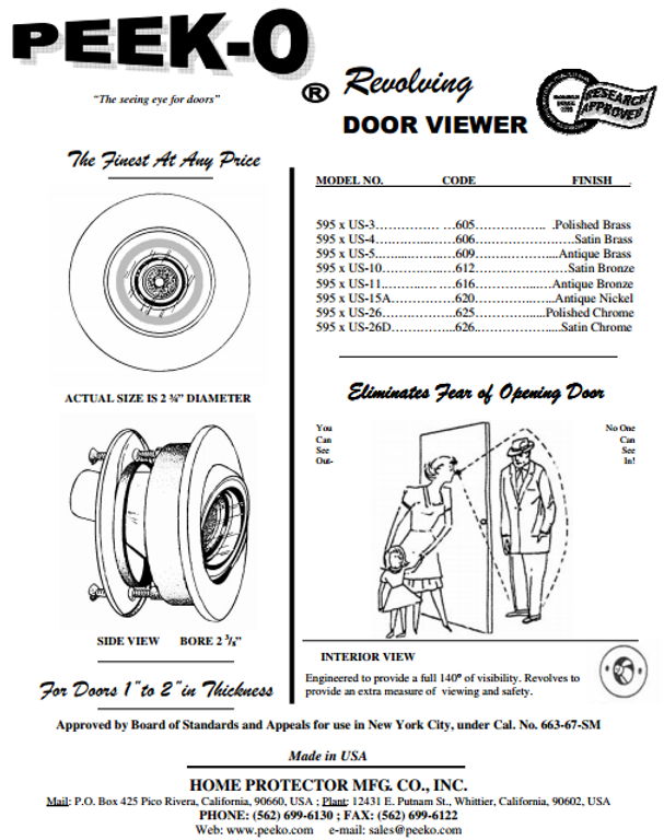 peek-o door viewer